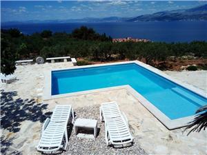 Дом GLAVICA Postira - ostrov Brac, квадратура 88,00 m2, размещение с бассейном, Воздух расстояние до центра города 450 m