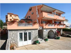 Appartementen ŠKRABONJA Čižići - eiland Krk, Kwadratuur 90,00 m2, Lucht afstand naar het centrum 350 m