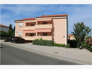 Lägenheter Penić Soline - ön Krk, Storlek 40,00 m2, Luftavstånd till havet 200 m