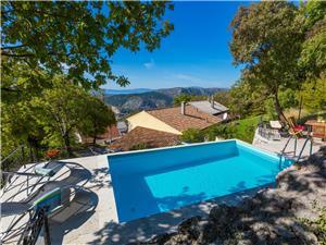 Dům CASA RUSTICA Grižane, Prostor 220,00 m2, Soukromé ubytování s bazénem