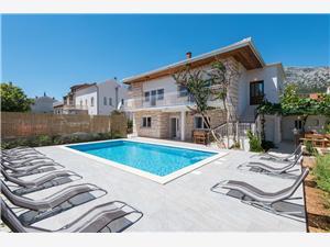 вилла Costa Orebic, квадратура 170,00 m2, размещение с бассейном, Воздуха удалённость от моря 150 m