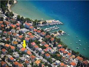 Appartementen Julija Crikvenica, Kwadratuur 35,00 m2, Lucht afstand naar het centrum 900 m