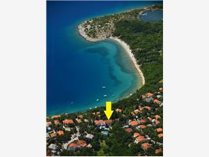 Ferienwohnung SENECA Jadranovo (Crikvenica), Größe 50,00 m2, Luftlinie bis zum Meer 100 m