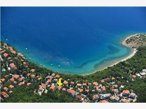 Haus Lipert Jadranovo (Crikvenica), Größe 51,00 m2, Luftlinie bis zum Meer 100 m, Entfernung vom Ortszentrum (Luftlinie) 900 m