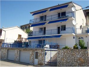 Ferienwohnungen Ivan - Šimun Senj, Größe 39,00 m2, Luftlinie bis zum Meer 250 m, Entfernung vom Ortszentrum (Luftlinie) 900 m