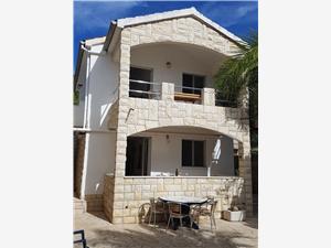 Apartmanok JEDRA Horvátország, Autentikus kőház, Robinson házak, Méret 40,00 m2