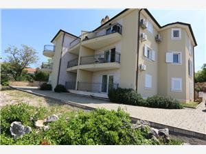 Apartmán Soline Cove Soline - ostrov Krk, Prostor 65,00 m2, Vzdušní vzdálenost od centra místa 500 m