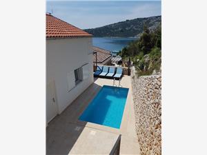 Dům Josin san Vinisce, Prostor 106,00 m2, Soukromé ubytování s bazénem, Vzdušní vzdálenost od moře 50 m
