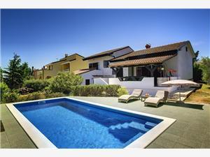 вилла Villa Ruža Liznjan, квадратура 200,00 m2, размещение с бассейном, Воздух расстояние до центра города 500 m