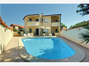 Appartementen MED 118 Medulin, Kwadratuur 50,00 m2, Accommodatie met zwembad, Lucht afstand naar het centrum 490 m