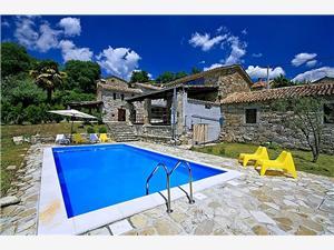 Casa Gal Motovun, Prostor 180,00 m2, Soukromé ubytování s bazénem