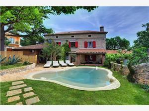 Villa BR Liznjan, квадратура 90,00 m2, размещение с бассейном, Воздух расстояние до центра города 250 m