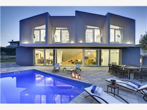 Villa Yania Liznjan, Prostor 140,00 m2, Soukromé ubytování s bazénem, Vzdušní vzdálenost od centra místa 500 m
