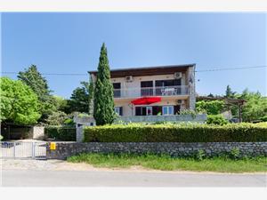 Appartements et Chambre Luka Klenovica (Novi Vinodolski), Superficie 30,00 m2, Distance (vol d'oiseau) jusque la mer 150 m, Distance (vol d'oiseau) jusqu'au centre ville 500 m