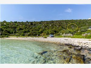 Hus Small Robinson Kroatien, Avlägsen stuga, Storlek 36,00 m2, Luftavstånd till havet 120 m