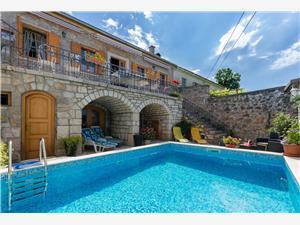 Ház Villa Ljuba Crikvenica, Autentikus kőház, Méret 180,00 m2, Szállás medencével