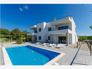 Appartementen Laura Kvarner eilanden, Kwadratuur 75,00 m2, Accommodatie met zwembad, Lucht afstand naar het centrum 500 m