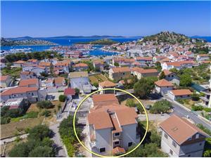Апартаменты Mira Tribunj, квадратура 55,00 m2, Воздух расстояние до центра города 290 m