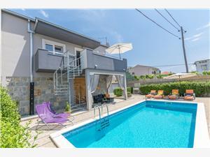 Maison Lisica Split et la riviera de Trogir, Superficie 55,00 m2, Hébergement avec piscine