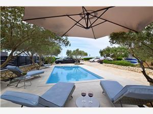 Apartmá Daniela Novalja - ostrov Pag, Prostor 50,00 m2, Soukromé ubytování s bazénem, Vzdušní vzdálenost od moře 30 m