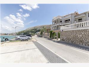 Apartamenty Tina Pag - wyspa Pag, Powierzchnia 20,00 m2, Odległość do morze mierzona drogą powietrzną wynosi 20 m