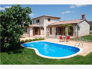 Vila Jurinea Visnjan (Porec), Prostor 159,00 m2, Soukromé ubytování s bazénem