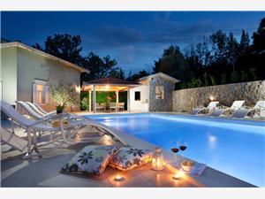 Villa Oliva Baška - otok Krk, Kvadratura 230,00 m2, Smještaj s bazenom