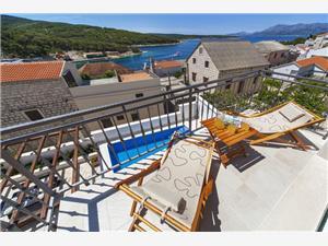 Villa Kala Povlja - Brac sziget, Méret 200,00 m2, Szállás medencével