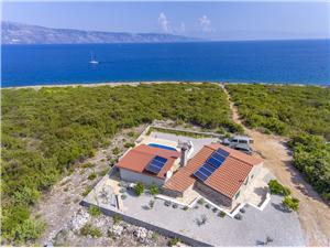 Ház Plani Rat Közép-Dalmácia szigetei, Autentikus kőház, Robinson házak, Méret 55,00 m2