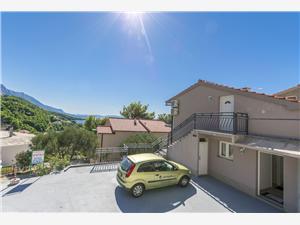 Апартамент и Kомнаты Maslina Brela, квадратура 22,00 m2, Воздуха удалённость от моря 100 m