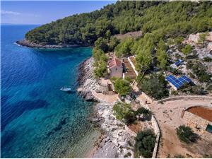 Dom Golubinka Zastrazisce - wyspa Hvar, Kamienny domek, Domek na odludziu, Powierzchnia 92,00 m2