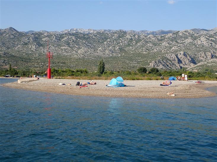 Mobilna hišica Pisak-directly on the pebble beach