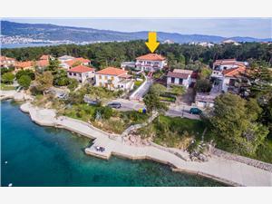 Apartamenty GRŠKOVIĆ NADA Silo - wyspa Krk, Powierzchnia 40,00 m2, Odległość do morze mierzona drogą powietrzną wynosi 20 m, Odległość od centrum miasta, przez powietrze jest mierzona 300 m