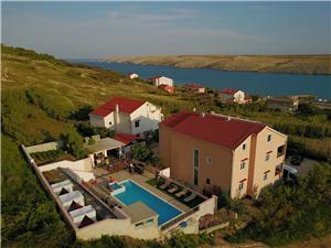 Appartementen Melandura Dinjiska - eiland Pag, Kwadratuur 37,00 m2, Accommodatie met zwembad, Lucht afstand tot de zee 100 m