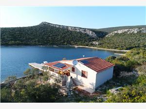 Haus Squash Die Norddalmatinischen Inseln, Haus in Alleinlage, Größe 45,00 m2, Luftlinie bis zum Meer 10 m