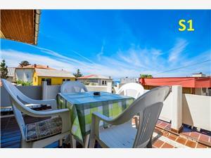 Appartement et Chambres Biserka Novalja - île de Pag, Superficie 30,00 m2, Distance (vol d'oiseau) jusque la mer 200 m, Distance (vol d'oiseau) jusqu'au centre ville 70 m
