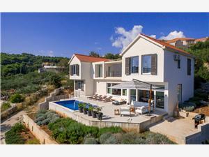 Vila Andora Selca, Prostor 250,00 m2, Soukromé ubytování s bazénem, Vzdušní vzdálenost od centra místa 500 m