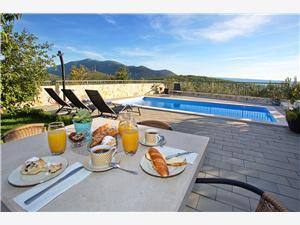 Villa Ivana Dalmatien, Steinhaus, Größe 55,00 m2, Privatunterkunft mit Pool