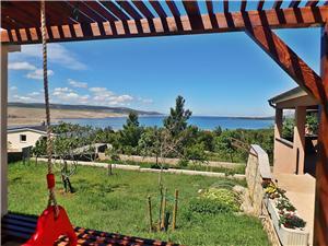 Apartman BOREAS-with panoramic view to the sea and Velebit Rovanjska, Kvadratura 54,00 m2, Zračna udaljenost od centra mjesta 250 m