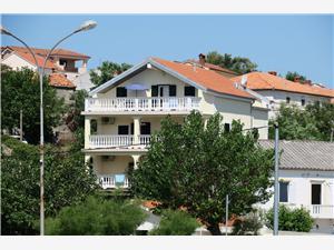 Lägenheter Matejcic-Grskovic Vesna Silo - ön Krk, Storlek 40,00 m2, Luftavstånd till havet 70 m, Luftavståndet till centrum 50 m