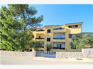 Apartments Čubranić Nada Baska - island Krk, Size 70.00 m2, Airline distance to town centre 150 m