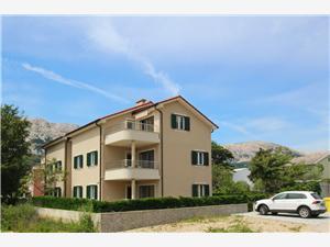 Apartmani Smojver Baška - otok Krk, Kvadratura 65,00 m2, Zračna udaljenost od centra mjesta 400 m