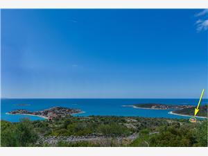 Ferienwohnungen Filip Sevid, Größe 40,00 m2, Luftlinie bis zum Meer 45 m, Entfernung vom Ortszentrum (Luftlinie) 750 m