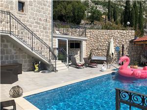 Dům Marija Orašac, Kamenný dům, Prostor 210,00 m2, Soukromé ubytování s bazénem