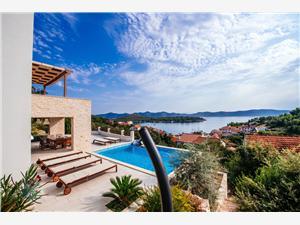 Vila Aya Mali Iz - ostrov Iz, Prostor 150,00 m2, Soukromé ubytování s bazénem, Vzdušní vzdálenost od moře 200 m