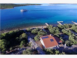 Huis Kaliopa Noord-Dalmatische eilanden, Afgelegen huis, Kwadratuur 44,00 m2, Lucht afstand tot de zee 15 m