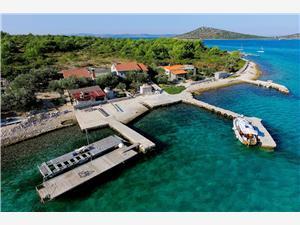 Haus Sedna Zizanj - Insel Zizanj, Haus in Alleinlage, Größe 50,00 m2, Luftlinie bis zum Meer 10 m