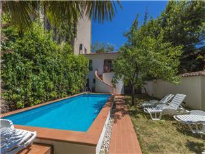 Apartmán Sunny Selce (Crikvenica), Prostor 140,00 m2, Soukromé ubytování s bazénem, Vzdušní vzdálenost od moře 30 m