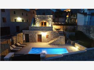 Villa Beram Pazin, Kvadratura 130,00 m2, Smještaj s bazenom