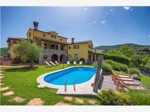 Villa Bacula Pazin, Kwadratuur 250,00 m2, Accommodatie met zwembad